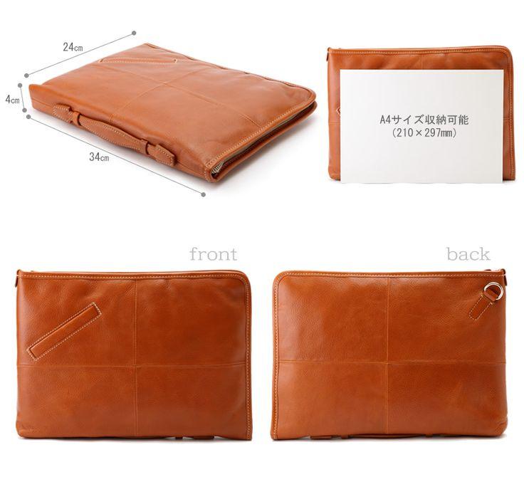 【楽天市場】Pid レザークラッチバッグ arriver /男性用 メンズ/クラッチバック/革 本革 レザー/A4 iPad/牛革/鞄…