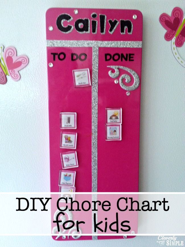 Make this easy DIY chore chart to motivate your kids to do their chores! Simple and easy! Plus, it works!