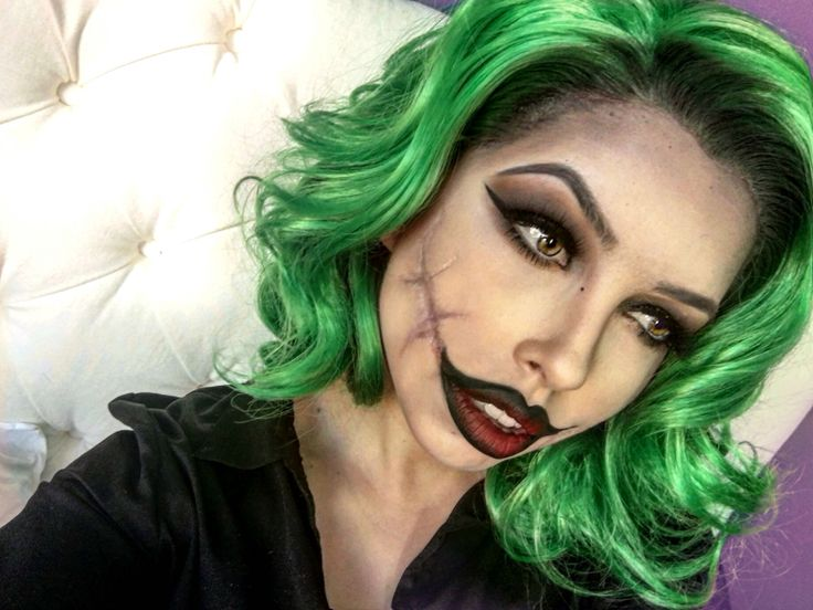 Halloween Makeup Idea For A Female Joker | Beauty | Pinterest | Halloween Makeup Costumes And ...