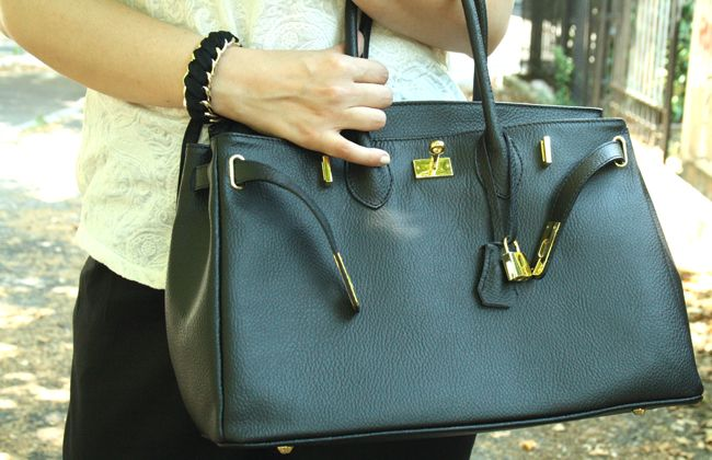 #Groupon #beauty #fashion outfit: birkin inspired e top con texture pizzo