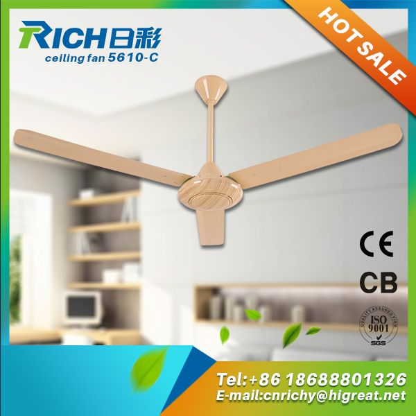 Conservatory Metal Blade Led Light Large Ac Ceiling Fan