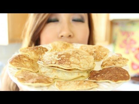 100% Natural Banana Pancakes - Gluten Free, Flourless, Low Calorie | THE EASIEST HEALTHIEST PANCAKES IN THE WORLD!!!!    INGREDIENTS: 2 eggs + 1 ripe banana = 250 cals, 14g protein!