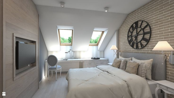 Wystrój wnętrz - Sypialnia na poddaszu - pomysły na aranżacje. Projekty, które stanowią prawdziwe inspiracje dla każdego, dla kogo liczy się dobry design, oryginalny styl i nieprzeciętne rozwiązania w nowoczesnym projektowaniu i dekorowaniu wnętrz. Obejrzyj zdjęcia!