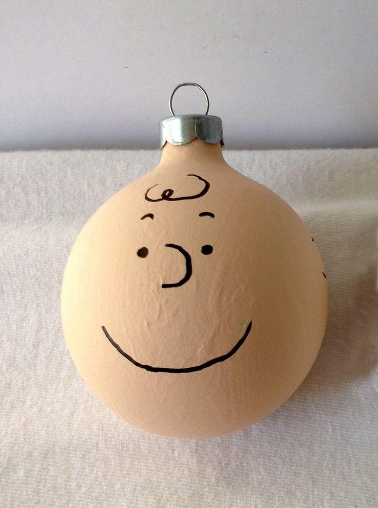 Peanuts Charlie Brown Hand Painted Christmas Ornament. $10.00, via Etsy.
