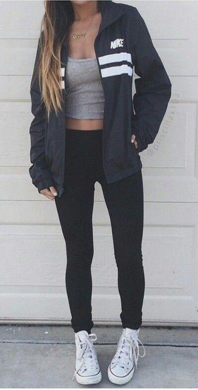 nike windbreaker outfit