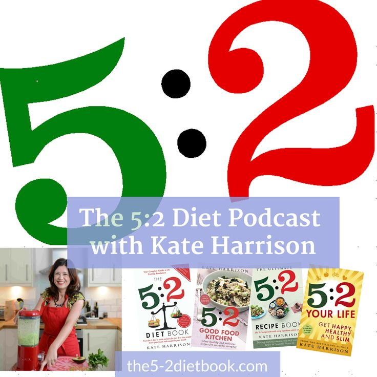 Podcast 1: what is 5:2, and what's in it for me? In this first podcast, Kate introduces 5:2 – what it is, why it's so easy to get started, what it can do for you. Plus Kate reads from her 5:2 Diary, started in 2012 when she weighed 31 pounds more than she does today!
