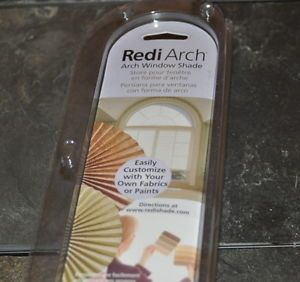 REDI ARCH SHADE REDIARCH WHITE FABRIC WINDOW BLIND HALF ROUND 72