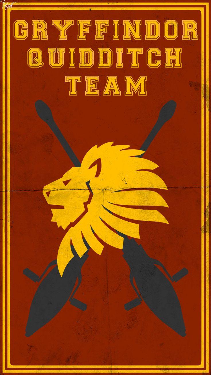 Quidditch Team Poster: Gryffindor by TheLadyAvatar.deviantart.com on @deviantART