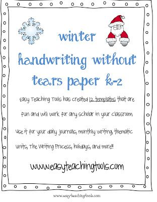 Easy Teaching Tools: K-2 Handwriting without Tears printable templates