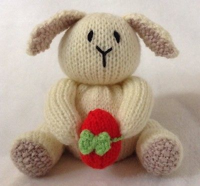 Knitting pattern - cream easter bunny and egg #chocolate #orange #cover /toy rabb,  View more on the LINK: http://www.zeppy.io/product/gb/2/131680702108/
