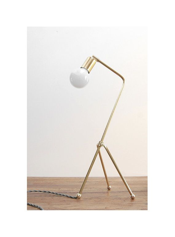 modern grasshopper table lamp mid century brass table lamp by - Modern Table Lamp