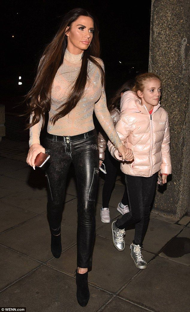 Oops!Katie Price suffered an accidental fashion faux-pas as she went braless in a complet...