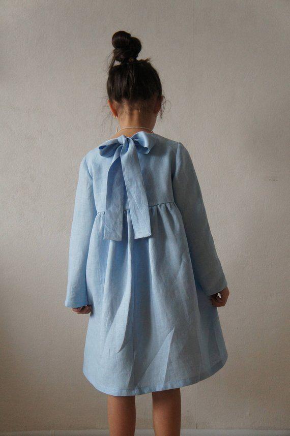 92d8c0caa19d Linen dress Linen girl dress Linen dress for girls Vintage | All ...