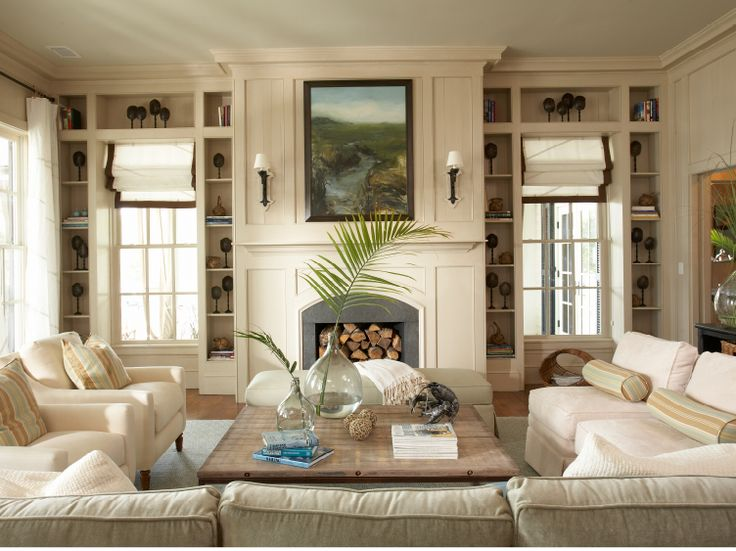 Beautiful family room in the Coastal Living idea house  By Tammy Connor. 68 best Beautiful Family Rooms images on Pinterest
