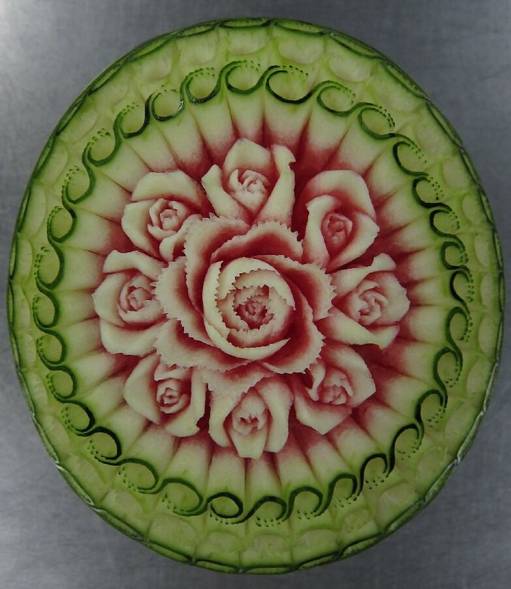 Best Fruit Veggie Carvings Amazing Images On Pinterest - Incredible sculptures carved watermelon