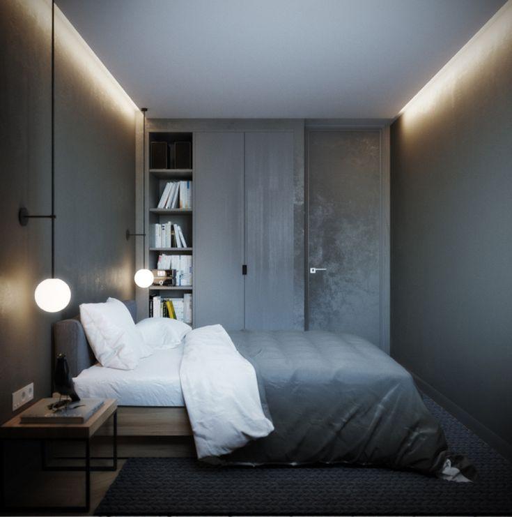Schlafzimmer Zimmertür Wandgestaltung Anthrazit Led Deckenbeleuchtung #fenster #türen #windows #doors