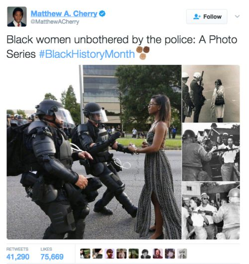 Photo series: Black women giving zero fucks about police intimidation