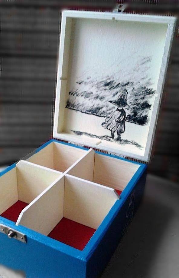 Pudełko ręcznie malowane Włóczykij, Mała Mi, Muminki