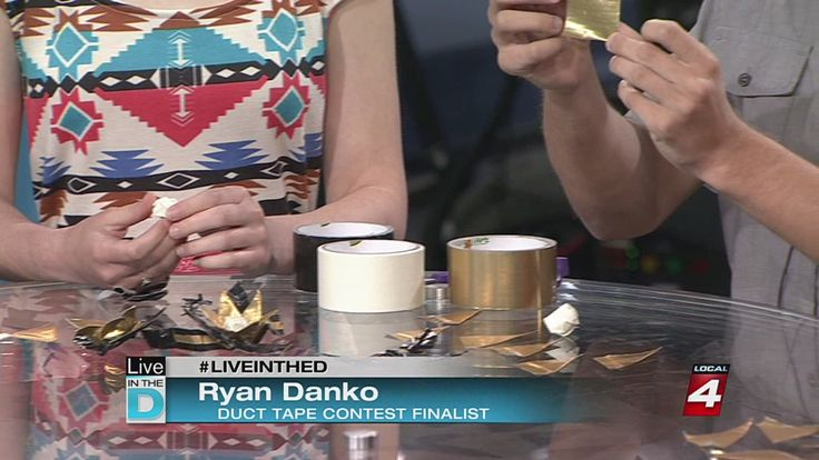 WDIV Channel 4 Detroit. #LiveInTheD Local couple could win scholarship with duct tape designs  News  - Home http://www.clickondetroit.com/news/Local-couple-could-win-scholarship-with-duct-tape-designs/26693466