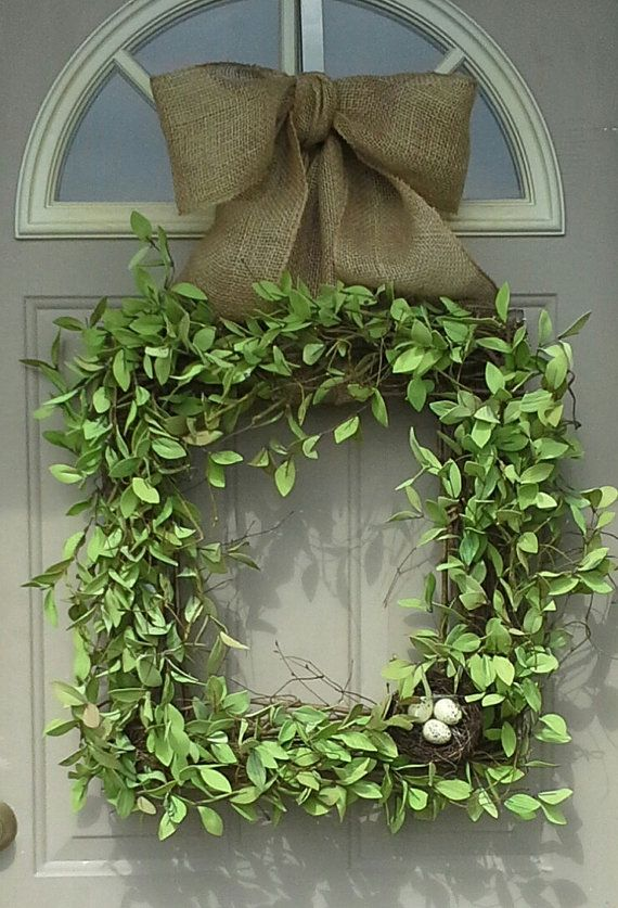 Spring Beauty .... Square Wreath, Boxwood Wreath, Front Door Wreaths,