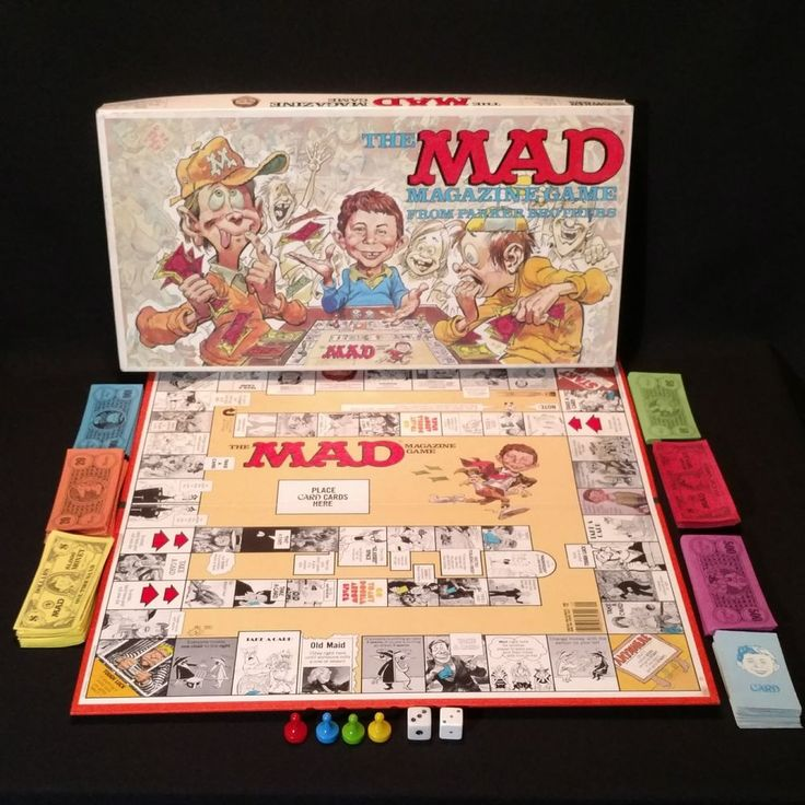 Vintage The Mad Magazine Board Game Parker Brothers 1979 Complete Game No. 124 #ParkerBrothers