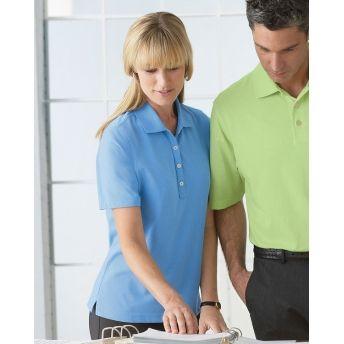 1147C Ashworth Ladies Short Sleeve High Twist Cotton Tech Polo Sports Shirt. Buy at wholesale price.