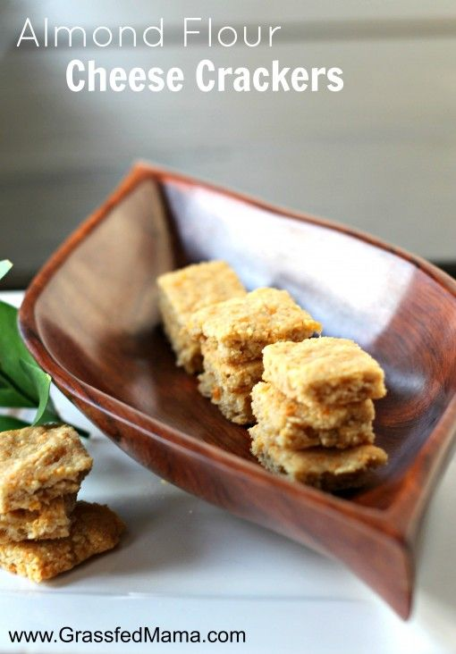 The perfect cheese snack cracker: Gluten Free Almond Flour Cheese Crackers - Grassfed Mama