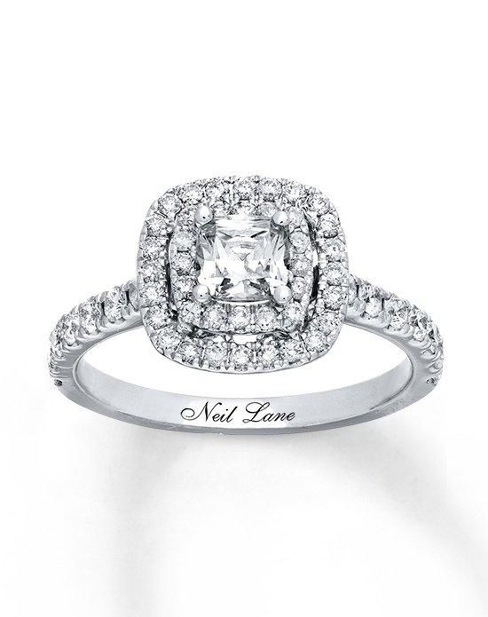 Kay Jewelers engagement ring from Neil Lane collection in white gold with cushion cut I Style: 940285416 I https://www.theknot.com/fashion/940285416-neil-lane-engagement-ring?utm_source=pinterest.com&utm_medium=social&utm_content=june2016&utm_campaign=beauty-fashion&utm_simplereach=?sr_share=pinterest