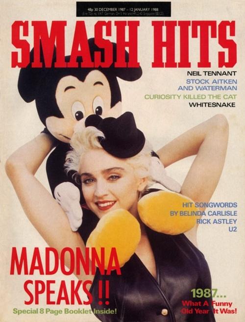 Madonna on the cover of Smash Hits Magazine #MadonnaCovers #Madonna