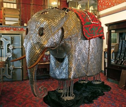 A set of scale armor for a war elephant, India, 17th century.