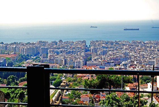 Thessaloniki in September, our Thessaloniki with the Byzantine Walls at the top of Kedrinos Hill in the Hilia Dendra district in an embrace with upper old town and best view to Thermaikos Gulf ever!
