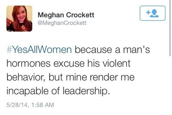 It's hard to ignore the double-standards that are in place when speaking about men and women.