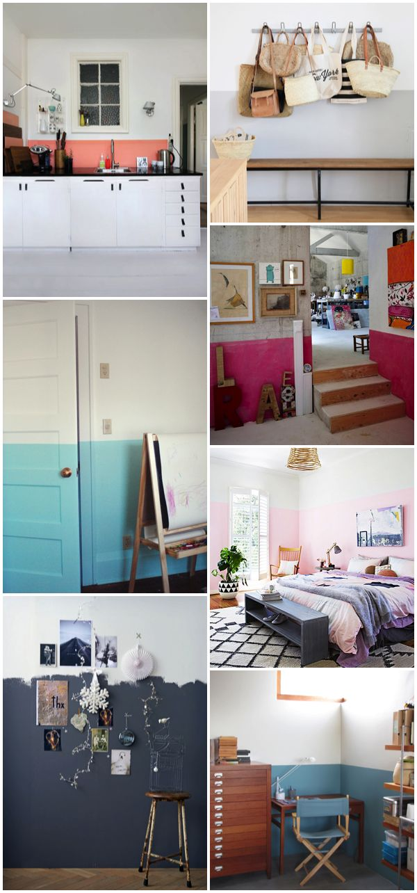 For the home. Paredes pintadas a la mitad/ Half painted walls