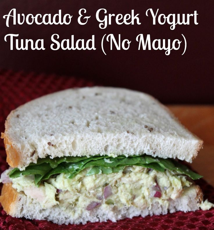 Avocado and Greek Yogurt Tuna Salad Recipe. This creamy make-ahead tuna salad recipe is made with ZERO mayonnaise and is delicious!