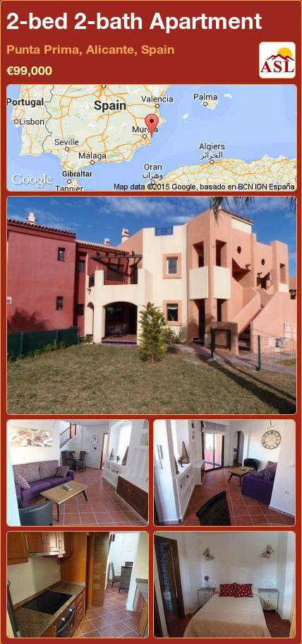 2-bed 2-bath Apartment in Punta Prima, Alicante, Spain ►€99,000 #PropertyForSaleInSpain