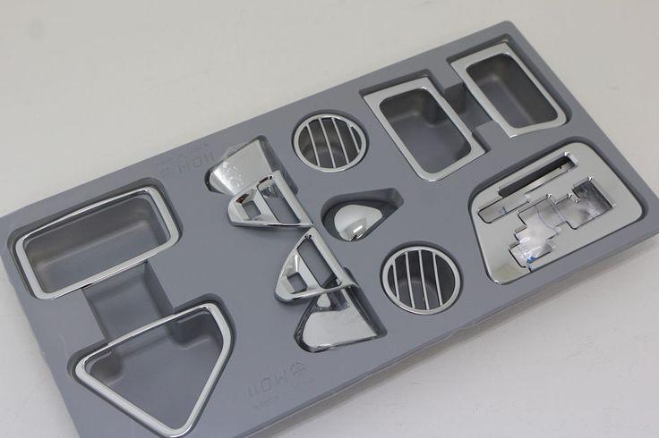 Chrome Interior Garnish Molding Kit 12p For 2011-2014 Kia Picanto : New Morning