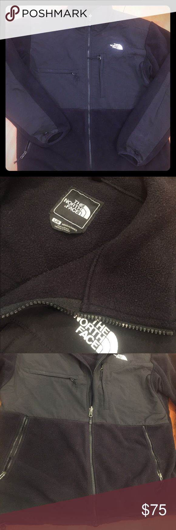 North Face Men's Fleece Jacket This black men's north face fleece jacket is clean and in good condition. Comes from non smoking home.  No stains or rips. North Face Jackets & Coats