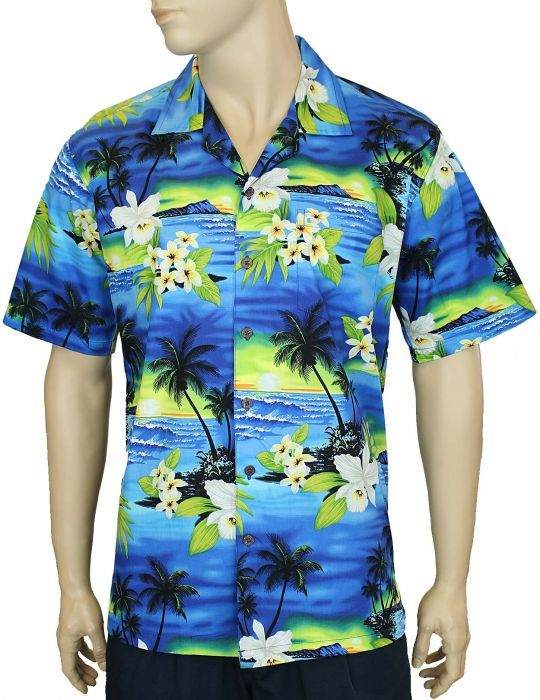 Sunset Cotton Aloha Shirt