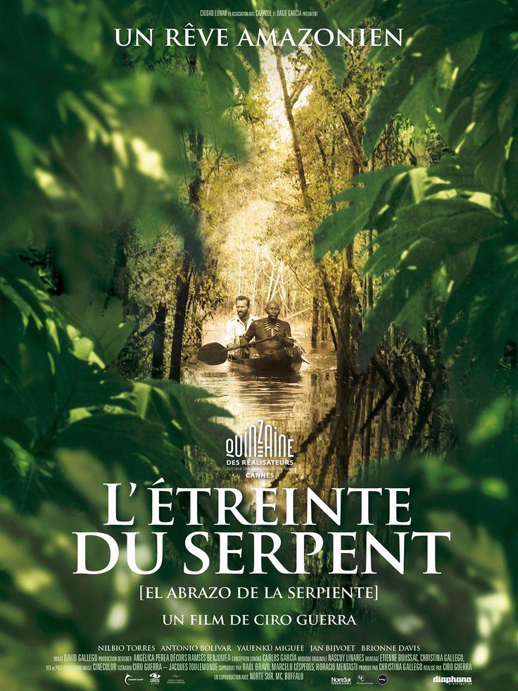 L'étreinte du serpent est un film de Ciro Guerra avec Jan Bijvoet, Brionne Davis. Synopsis : Karamakate, un chaman amazonien puissant, dernier survivant de son peuple, vit isolé dans les profondeurs de la jungle. Des dizaines d'années de