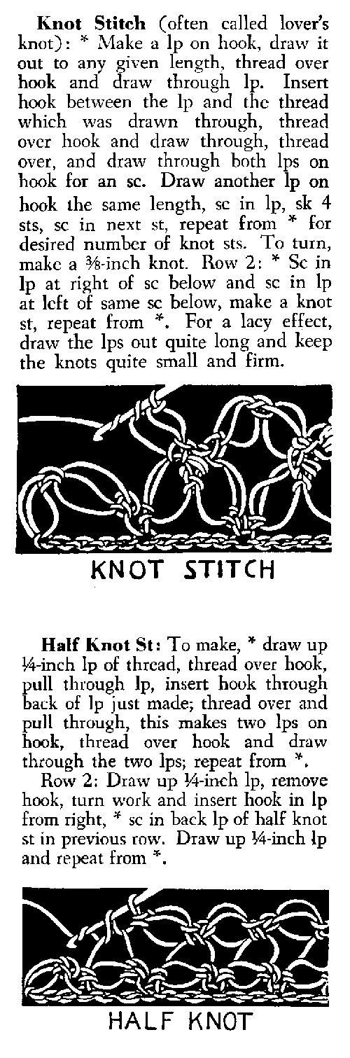 Knot crochet stitch •✿• Teresa Restegui http://www.pinterest.com/teretegui/ •✿•