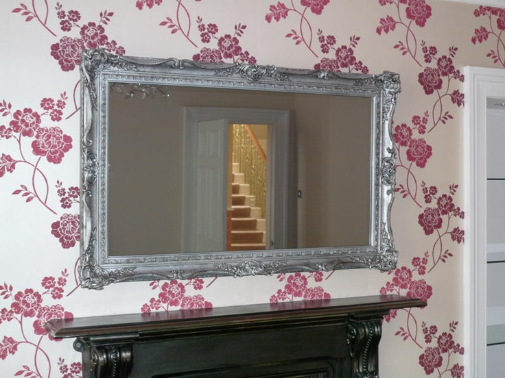 50 lg plasma tv in handmade antique victorian silver for Mirror for lg tv