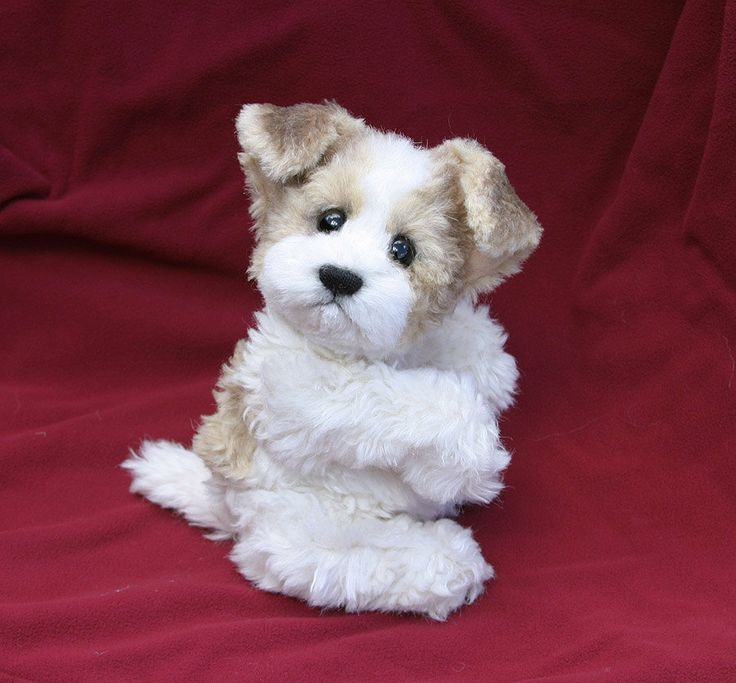 Sewing Pattern For A 10 Jointed Puppy Dog Mohair Stuffed Animal Toy