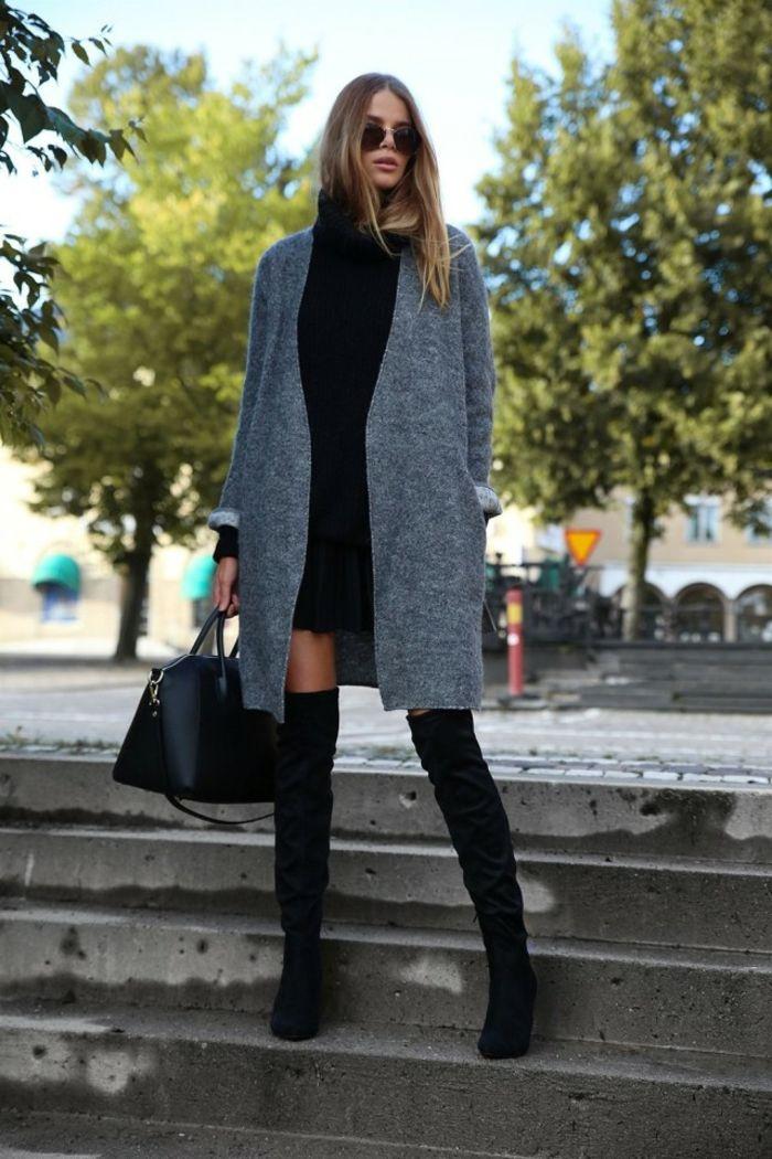 Gilet long laine pour femme