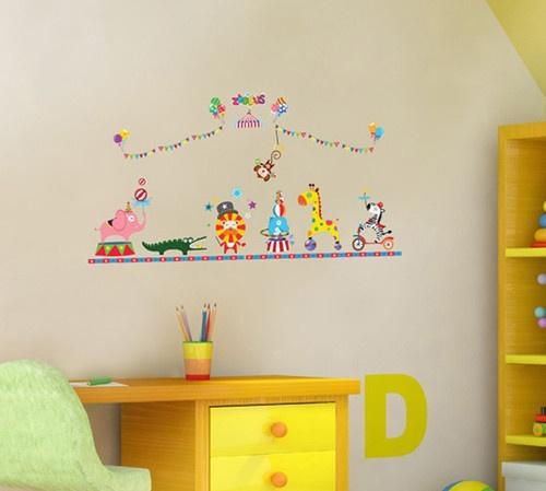 4 Cute Monkeys Wall Decals Sticker Nursery Decor Mural: 80 Best Circus Wall Art Images On Pinterest