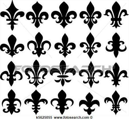 fleur lis, símbolo Ampliar Gráfico Clipart