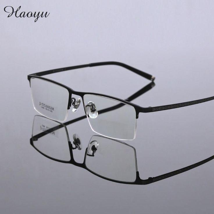 haoyu Brand Pure Titanium Eyeglasses Frames Men Optical Glasses Frame eyewear Reading Prescription spectacles frame TG068