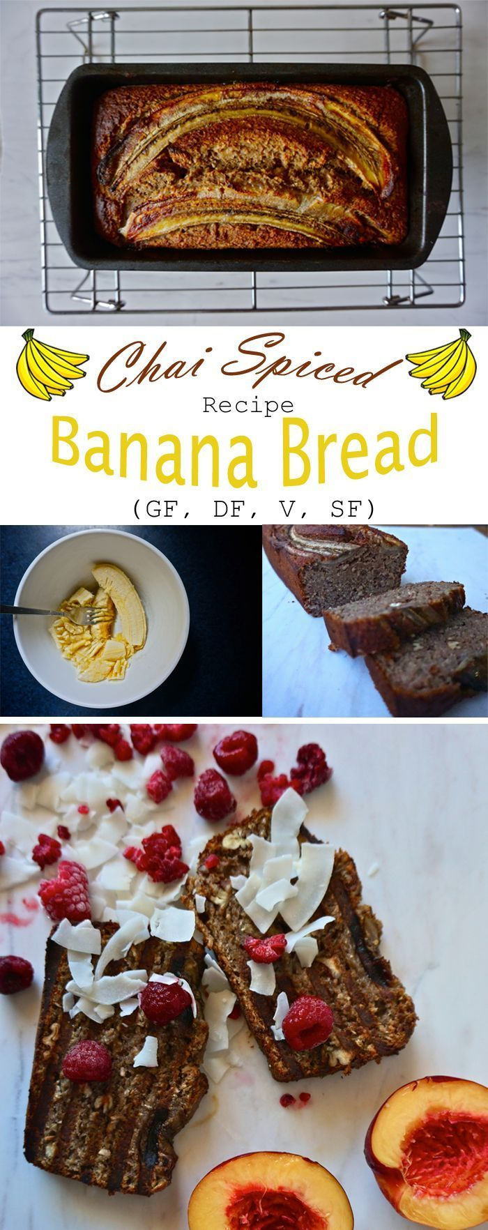 Chai spiced #BananaBread in all its glory + a rich pin to boot. Pin this thing! http://www.sproutlystories.com/solid-sweet-recipes/chai-spiced-banana-bread?rq=banana bread #veganbaking::