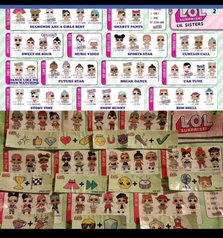 Lol Surprise Series 2 Bigs And Littles With Their Matching Clues Not My Picture Lolsurprise Lolsurprisedolls Series2 Clues To Lol Dolls Sister Dolls Lol