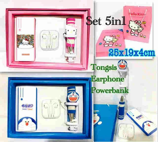 set #aksesories hp #hellokitty & #doraemon @ 145.000