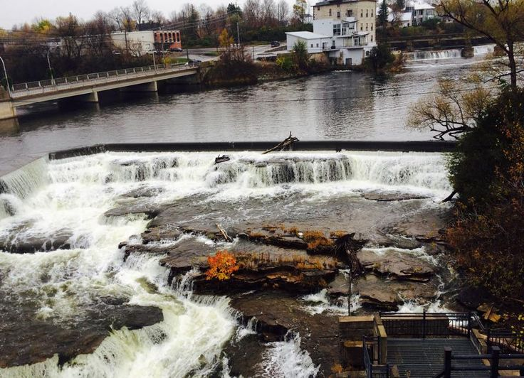 Waterfalls along the Mississippi River in Almonte, ON.
